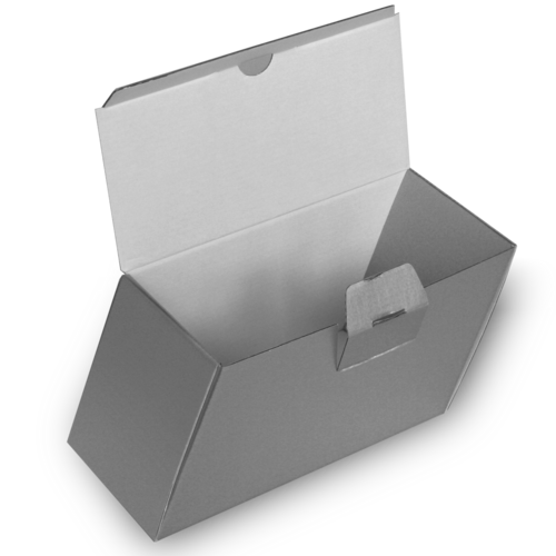 Folding box with safety lock, fully printed